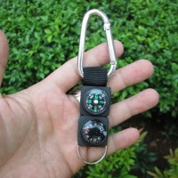 Carabiner Compass Termometer (gantungan hape), outdoor use