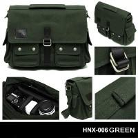 "Honx Tas Kamera Slempang HNX-006 GREEN Laptop 14"""