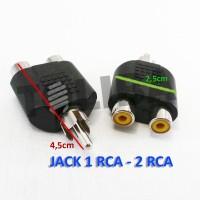 Converter Jack RCA To 2 Cover RCA / jack av T rca 1-2