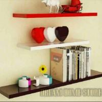 rak floating shelves 1set uk/ 80-60-40 dinding melayang gantung promo