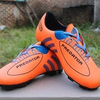 Sepatu Bola Anak Adidas Predator Orange Hitam (Kids)