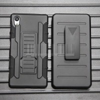 Hardcase Future Armor Bumper With Belt Clip For Xperia M4 Aqua