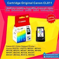 Cartridge Canon CL811 Color Original, Canon IP2770 MP258 MP287 MP237