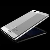 Aluminium Tempered Glass Hard Case for Xiaomi Redmi 3 - Silver