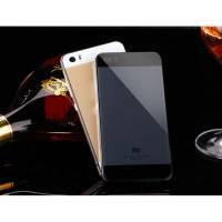 Aluminium Tempered Glass Hard Case for Xiaomi Mi5 - Gray/Black