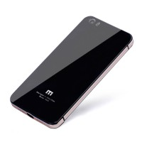 Aluminium Tempered Glass Hard Case for Xiaomi Mi5 - Black Gold