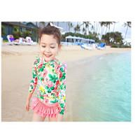 Baju Renang Anak Bayi Cewek Unik Lucu Pink Flower Fashion Import