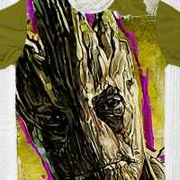 Kaos Guardian Of The Galaxy Anak / Dewasa - Groot Face