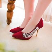 A. Heels Suede Glitter Samping