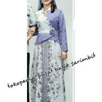 Long dress wanita keluarga 069 Batik gamis muslim syarii no kerudung