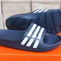 Sandal Adidas Duramo Biru Dongker (Sport,Slop,Indoor,Outdoor,Pria)