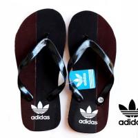 Sandal Jepit Spon Adidas Hitam Brown (Sport,Indoor,Outdoor,Pria)