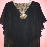 Animal Printed Top Leopard Chiffon Blouse Preloved