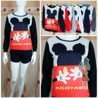 JAKET SWEATER MICKEY MOUSE HEAD AND HUG