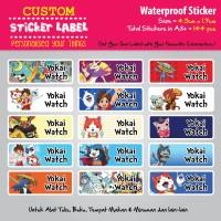 Sticker Label Yokai Watch - Stiker nama waterproof