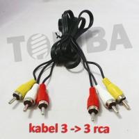 kabel rca audio video tv dvd 3 warna