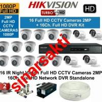 Murah Paket Cctv Hikvision HD 1080p 2mp ( 16 channel ) Komplit