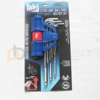 Kunci L Set 9pcs Toho Long Ballpoint 1.5-6mm