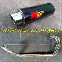 Knalpot MGP carbon full system untuk motor Kawasaki Ninja 250