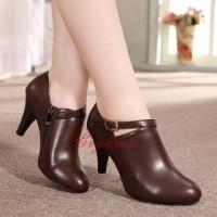 Sepatu Kerja Kantor Pantofel Wanita Zipper Style