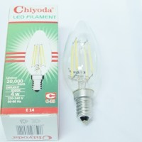 LAMPU LED FILAMEN CHIYODA 4W (ULIR KECIL), GELAS BENING, CAHAYA PUTIH