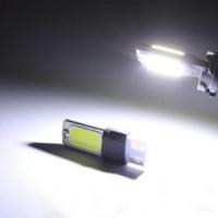 Lampu Senja LED CANBUS T10 COB Plasma 2 SISI White Sein Mundur Putih