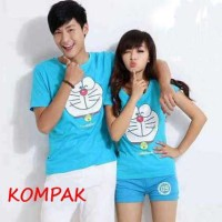 Kaos Couple Doraemon