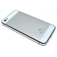 Aluminium Tempered Glass Hard Case for Xiaomi Mi5 - Silver