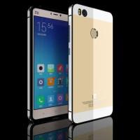Aluminium Tempered Glass Hard Case for Xiaomi Mi4s - Golden/Silver