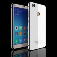 Aluminium Tempered Glass Hard Case for Xiaomi Mi4s - White/Silver