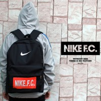 Tas Ransel Nike FC Hitam Logo Kuning