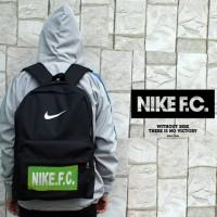 Tas Ransel Nike FC Hitam Logo Hijau(sekolah,sport,olahraga)
