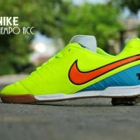 Sepatu Futsal Nike Tiempo ACC Grade ORI / Hijau Stabillo Stip Orange