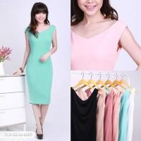 Hiltiya Plain Bodycon Mini Dress