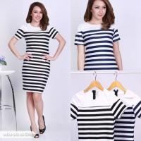 Mellyca Stripe Bodycon Mini Dress