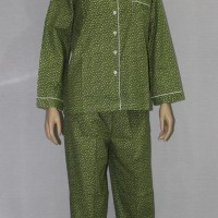 baju tidur/piyama dewasa little lovely star lgn pjg/cln panjang hijau