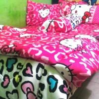 Bedcover & Sprei Hello Kitty Saten Jepang