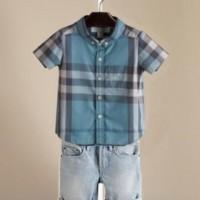 Baju Anak - Burberry Blue Set (BO-467)