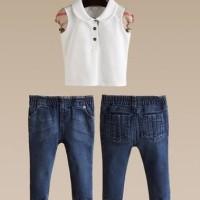 Baju Anak -  Burberry Girl White Set (GI-711)