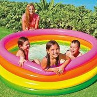 Kolam Renang Anak 4 Ring Sunset Glow Pool Swim - INTEX 56441