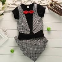 Baju Anak - Vest Set Black (BO-464)