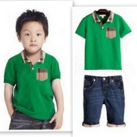 Baju Anak - Burberry Jeans Set Green (BO-465)