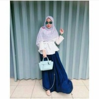 blouse top pita white -baju hijabers