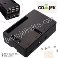Case - Black Enclosure Box - GPIO Camera Hole For Raspberry Pi 2 Or B+