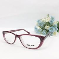 Frame Miu Miu Kacamata Baca Plus/Minus/Silinder Pria / Wanita Red
