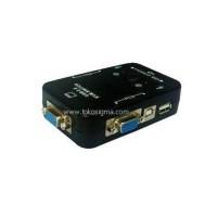 KVM Switch USB 1-2 port merk m@itou (black)