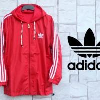 Jaket Adidas Merah List Putih Parasut [sweater/hoodie/jumper]