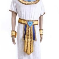 Cosplay Halloween Costume Kostum Pria Dewasa Raja Mesir Warna Putih