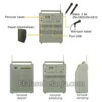 TOA ZW-G810CU - PORTABLE SOUND SYSTEM (2 MIC HANDHELD WIRELESS)