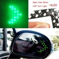LED Sein Spion Mobil Hijau Lampu Led Sign Sen Kaca Spion Tanda Panah